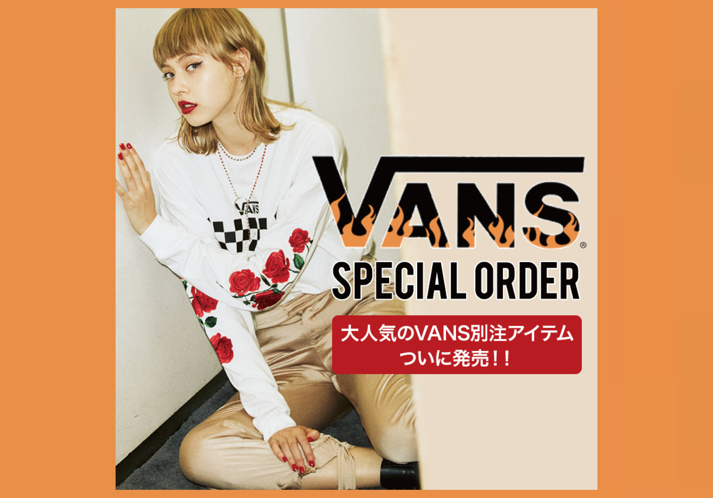 【VANS SPECIAL ITEM】